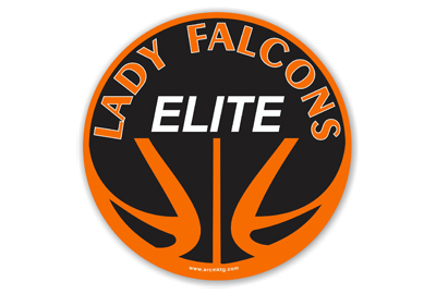 Lady Falcons Elite Basketball car magnet