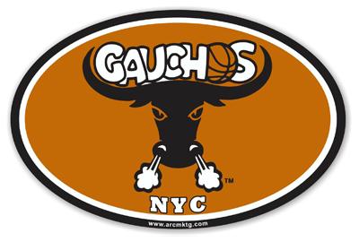 New York City Gauchos Basketball car magnet