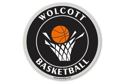 Wolcott Basketball car magnet
