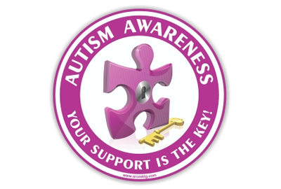 Custom car magnets for Autism Awareness