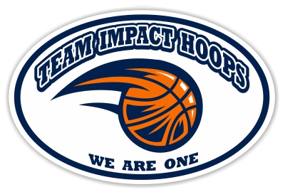 Impact Hoops Basketball car magnet