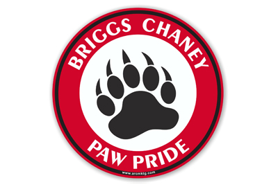 Briggs Chaney Middle School Car Magnet