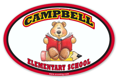 Campbell Elementary School Car Magnet