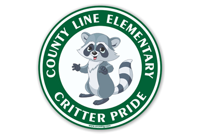 County Line Elementary School Car Magnet
