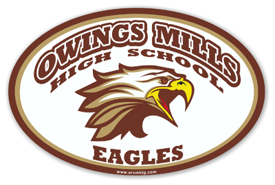 Owings Mills High School Car Magnet