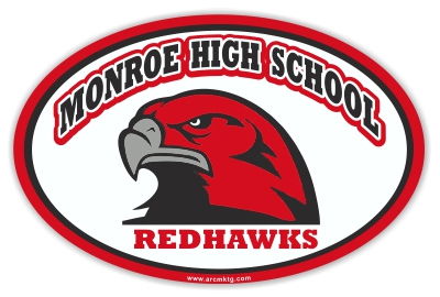 Monroe High School Car Magnet
