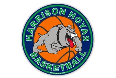 Harrison Hoyas Basketball car magnet