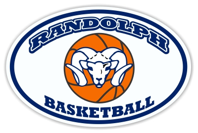 Randolph Basketball car magnet