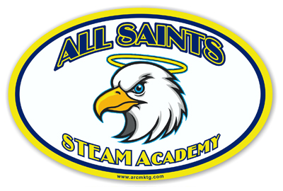 All Saints STEAM Academy Car Magnet