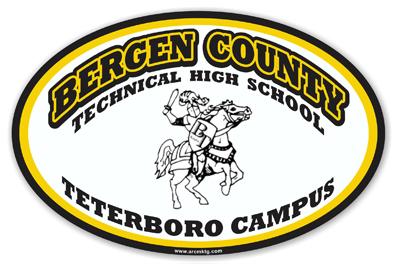 Bergen County Technical High School Car Magnet