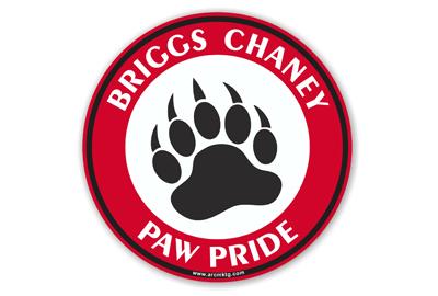 Briggs Chaney Middle School Car Magnet