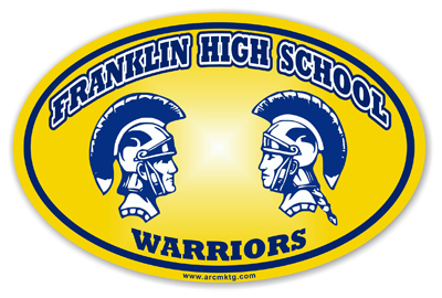 Franklin High School Car Magnet