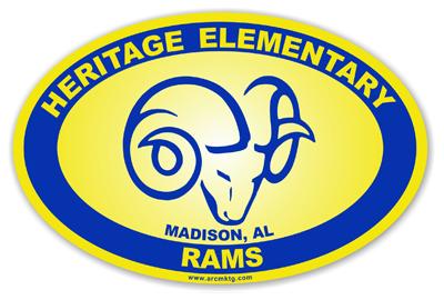 Heritage Elementary School Car Magnet