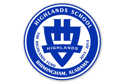 Highlands School Car Magnet