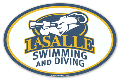 LaSalle Uniuversity Swimming Diving Car Magnet