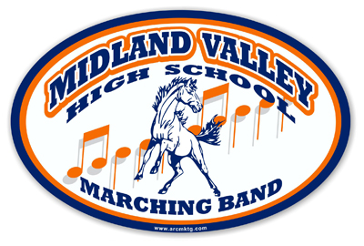 Midland Vallley High School Car Magnet