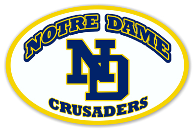 Notre Dame High School Car Magnet
