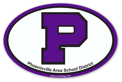 Phoenixville Area School District Car Magnet
