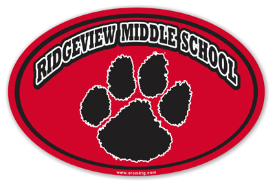 Ridgeview Middle School Car Magnet