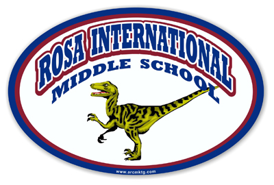 Rosa International Middle School Car Magnet