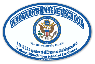 Wadsworth Magnet School Car Magnet