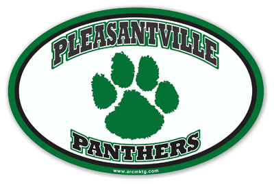 Pleasantville Panthers School Car Magnet