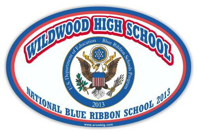 Wildwood High School Car Magnet